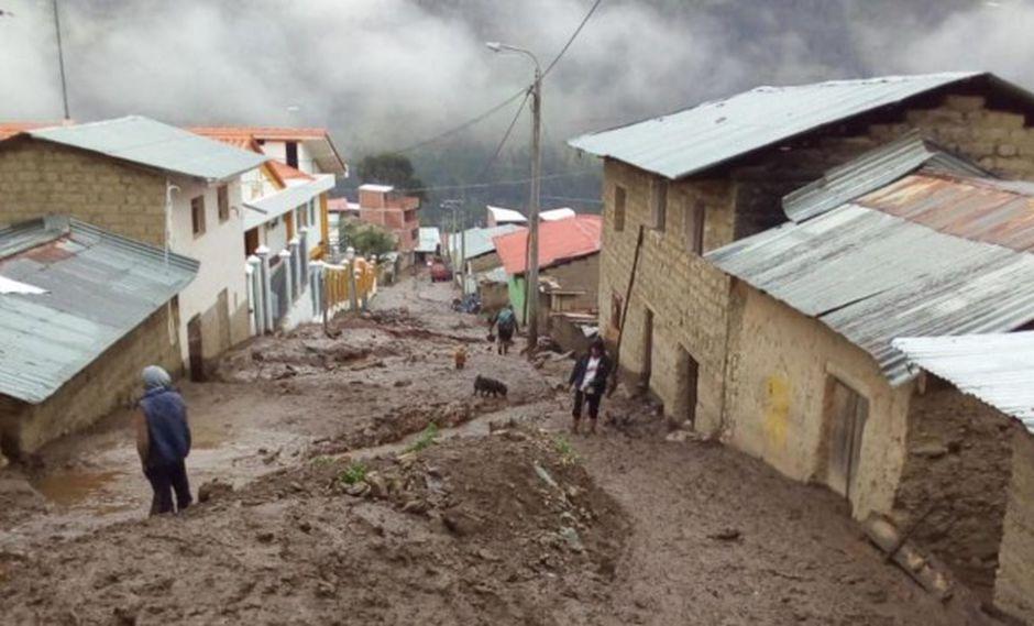 Cenepred: 200 distritos de la sierra presentan riesgo alto de huaicos por lluvias