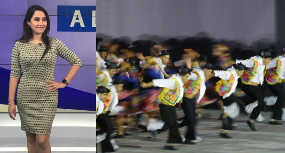 Marian Jáuregui demostró que sabe zapatear en la clausura de Lima 2019.