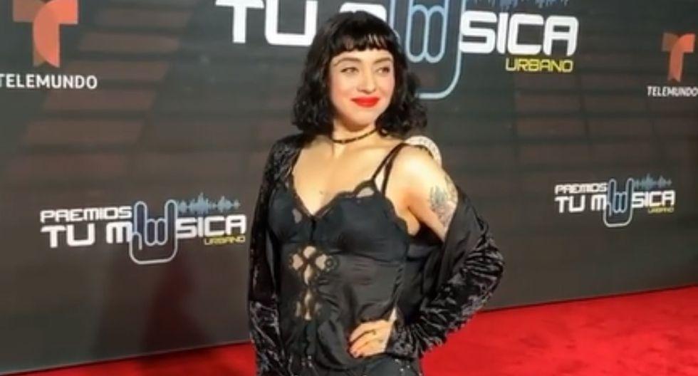 Mon Laferte asistió a la gala de Premios Tu Música Urban 2020. (Foto: Captura Instagram oficial)