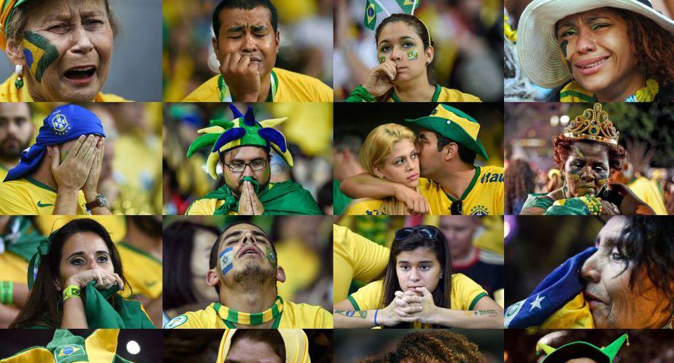Ese mismo día, la selección brasileña fue humillada a manos de los alemanes por 7-1. La tristeza inundó las tribunas del Mineirao. (AFP).