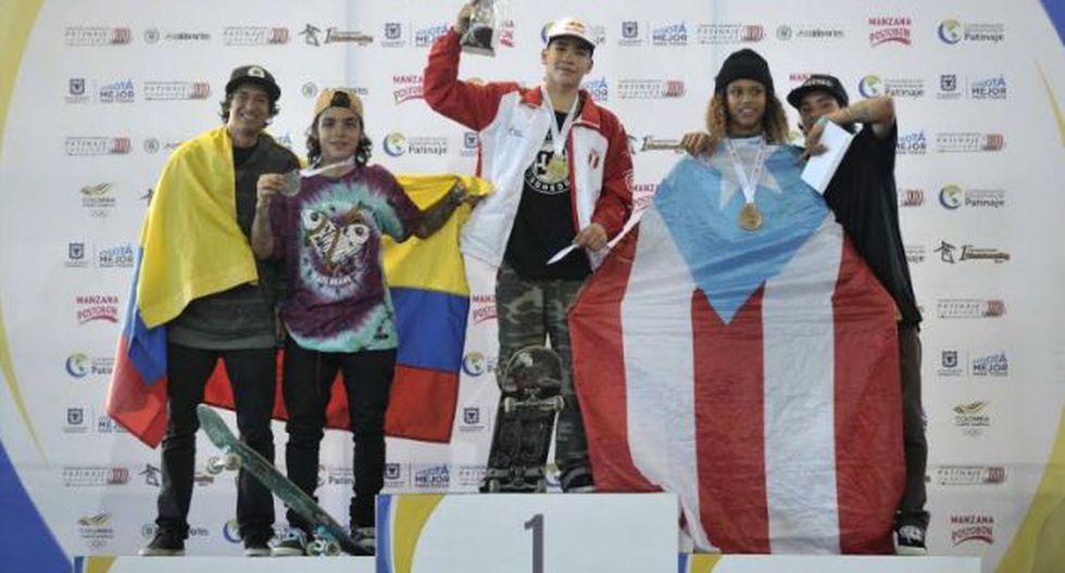 Angelo Caro dejó bien en alto al skateboarding peruano. (Difusión)