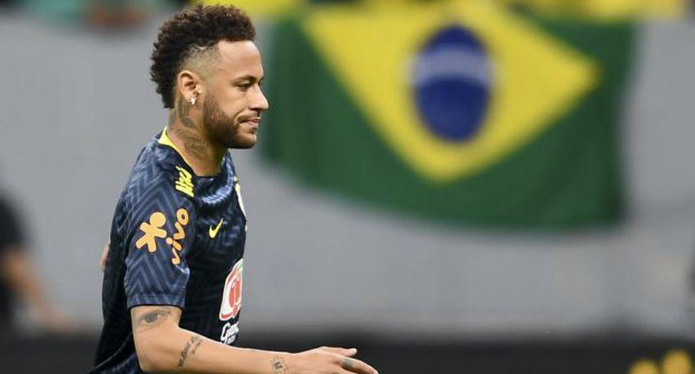 Neymar se lesionó en el amistoso ante Qatar y quedó desafecatado de la selección de Brasil. (Foto: AFP)