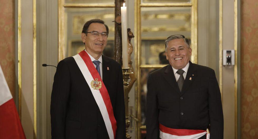 El vicealmirante Jorge Moscoso asumió el Ministerio de Defensa luego del fallecimiento de José Huerta. (Foto: Anthony Niño de Guzmán / GEC)
