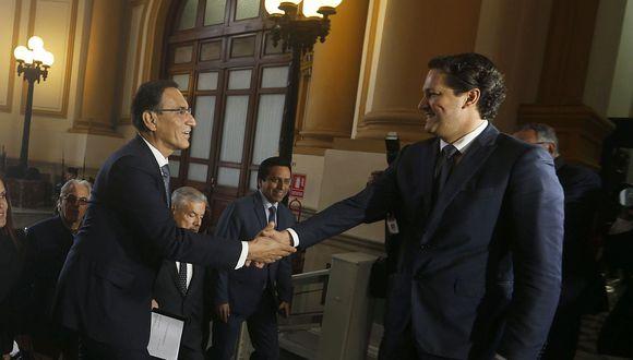 """Daniel Salaverry criticó a Martín Vizcarra por visitar el Parlamento de forma """"innecesaria"""". (Foto: GEC)"""