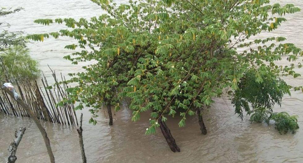 Las lluvias intensas provocaron el incremento del caudal del río Marañón. (Foto: Facebook/Ebert Bravo Gonzales)