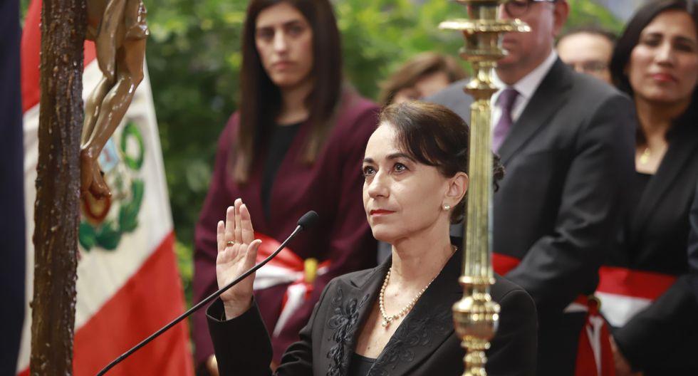 Ana Revilla Vergara, ministro de Justicia y Derechos Humanos. Renunció este 13 de febrero de 2020. (Foto: Presidencia Perú)