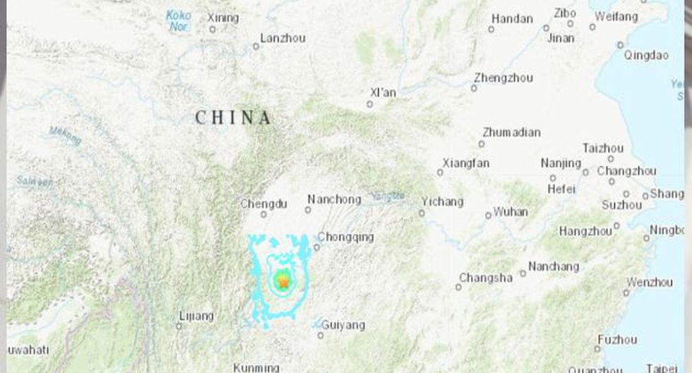 China: fuerte sismo de 5,9 grados sacude la provincia de Sichuan. (Foto: USGS)