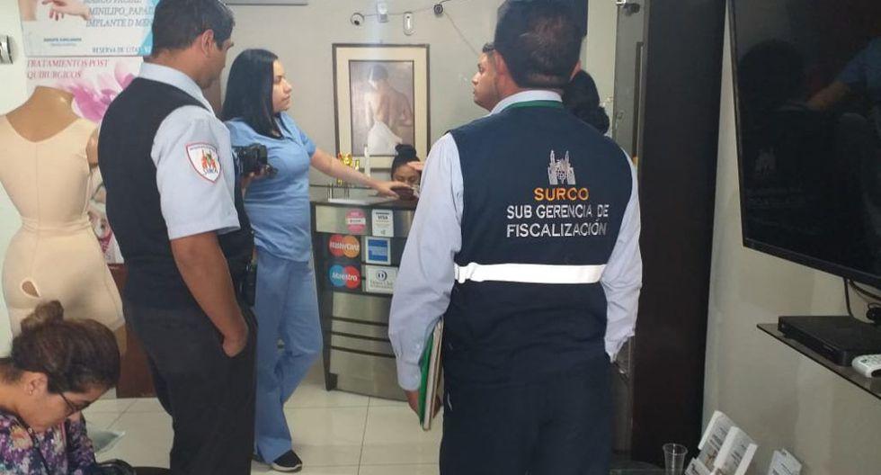 Los servicios que ofrecía esta clínica eran rinoplastía, liposucción, aumento de senos y otras cirugías plásticas.  (Foto: Municipalidad de Surco)