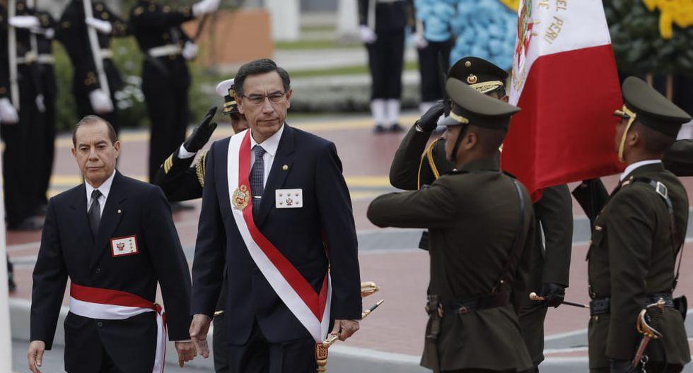 Martín Vizcarra participó en la ceremonia por los 140 años del Combate de Angamos en el Callao. (Fotos: Anthony Niño de Guzmán / GEC)