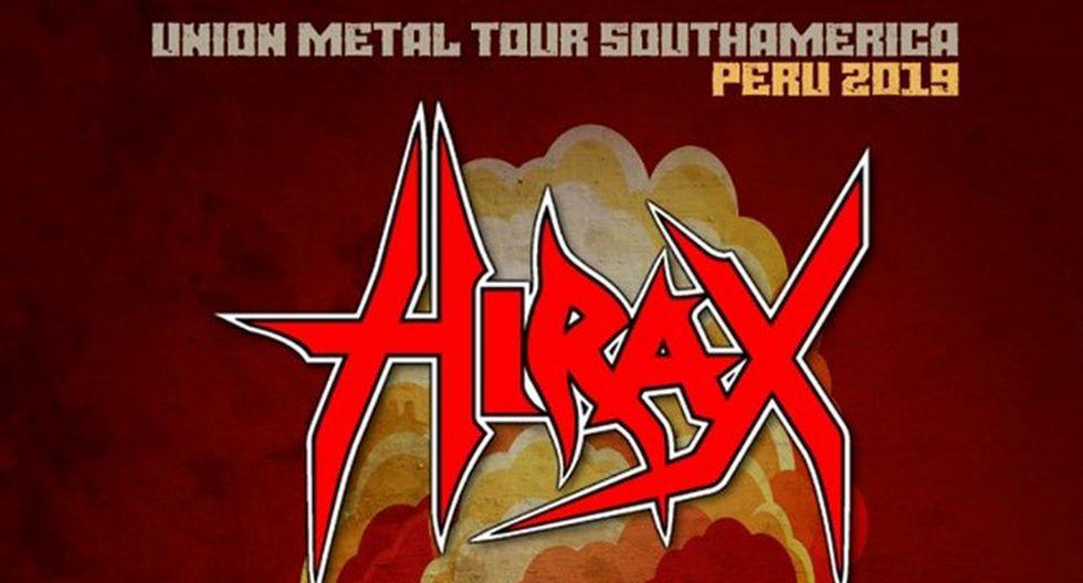 Hirax llega a lima para ofrecer concierto este 12 de septiembre. (Foto: Difusión)