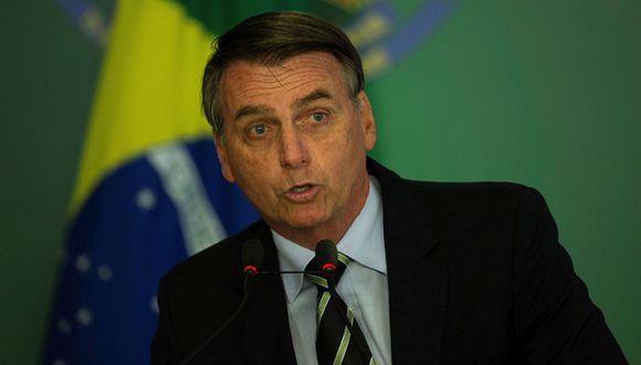 El mandatario de Brasil, Jair Bolsonaro, lamentó los comentarios de su hijo. (Foto: EFE)