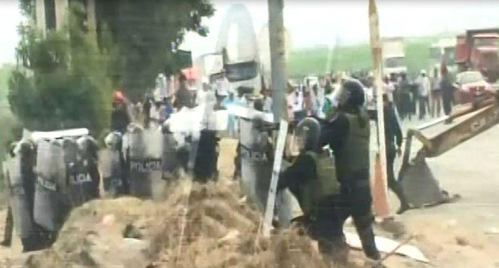 Manifestantes que acatan el paro agrario a nivel nacional. (Captura: Canal N)