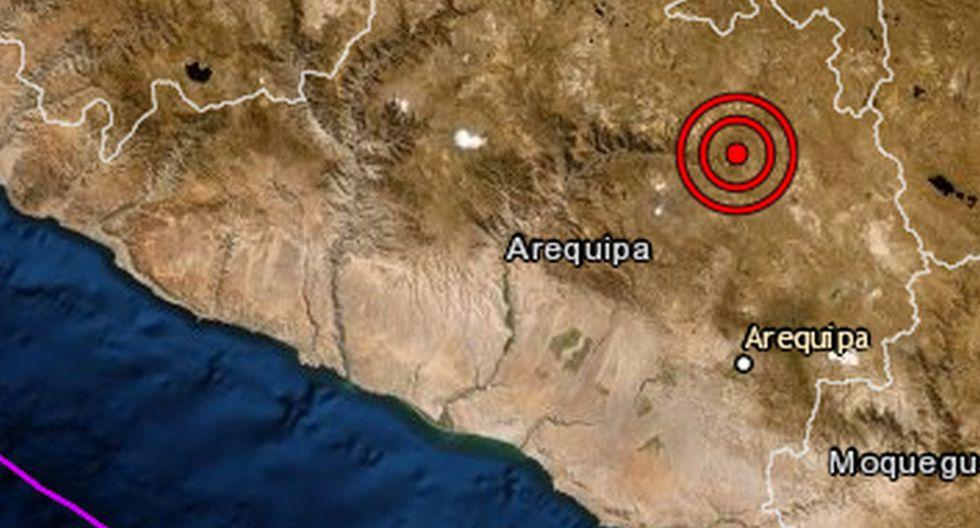 Arequipa: sismo de magnitud 3,4 se reportó en Caylloma esta noche. (IGP)