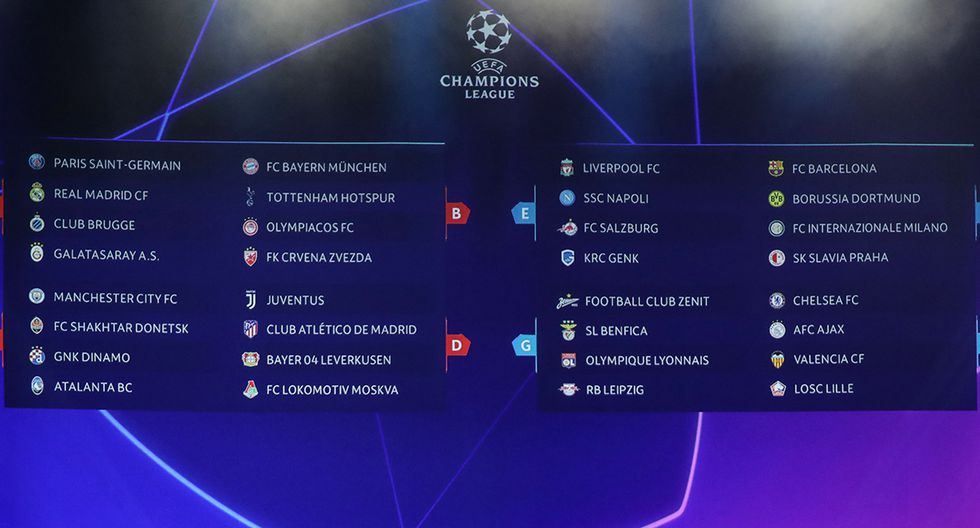Así quedaron conformados los grupos de la Champions League. (Foto: AFP)