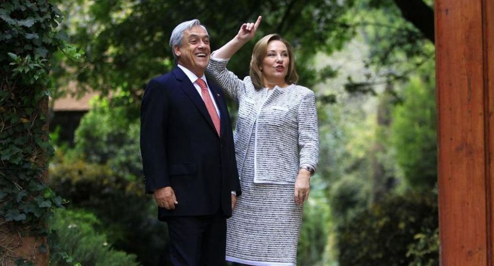 Sebastián Piñera y Cecilia Morel.