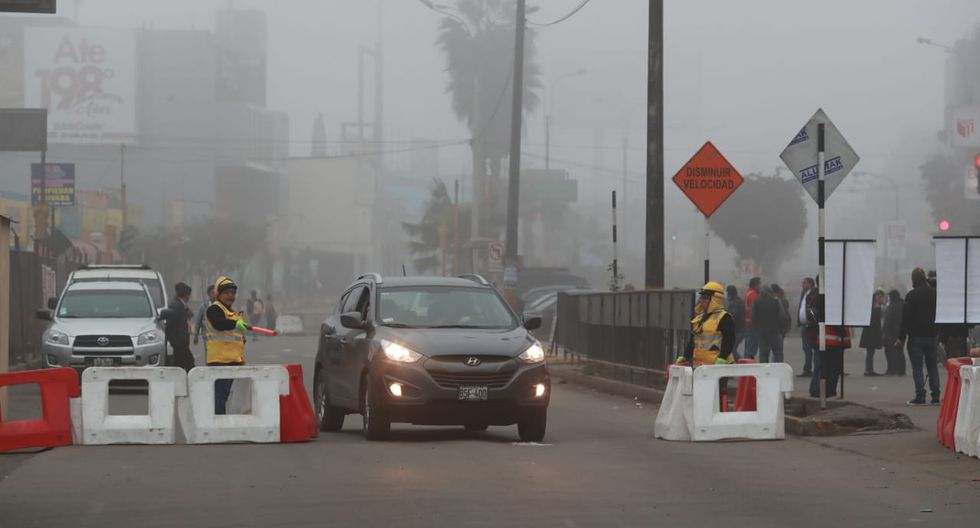 Vale precisar que el cierre de la Carretera Central se ubica entre la Municipalidad de Ate y el nuevo Hospital de Emergencia Lima Este. (Fotos: Lino Chipana)