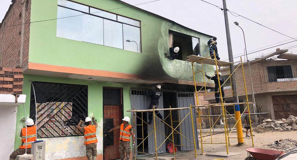 Los otros 28 inmuebles que presentan diferentes daños serán rehabilitadas. (Foto: Ejército del Perú)