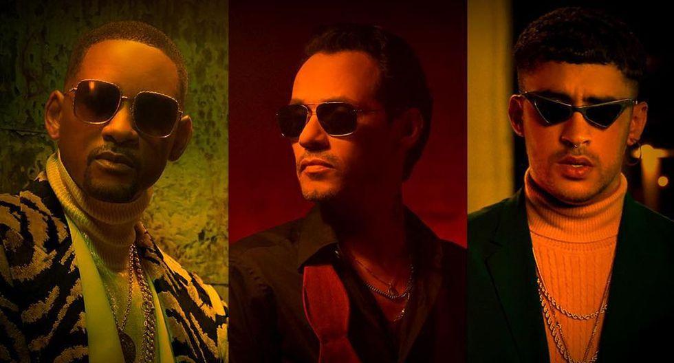 Marc Anthony, Will Smith y Bad Bunny lanzaron el tema 'Está rico', que grabaron juntos. (Foto: Captura de video)