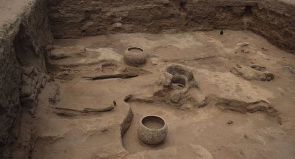 En el complejo arqueológico El Chorro, ubicado en el distrito chiclayano de Pomalca. (Andina)