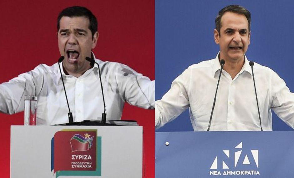 Tsipras y Mitsotakis tienen en común que se convirtieron en los líderes más jóvenes de sus formaciones respectivas y de que ambos las sacaron de crisis profundas. (Foto: AFP)