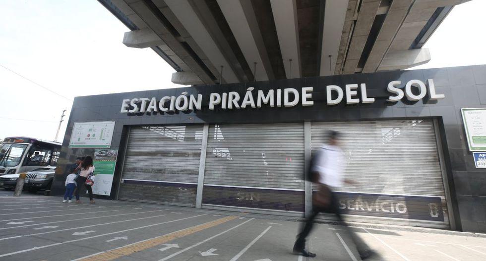 La estación Pirámide del Sol permanece cerrada desde enero pasado. (GEC)