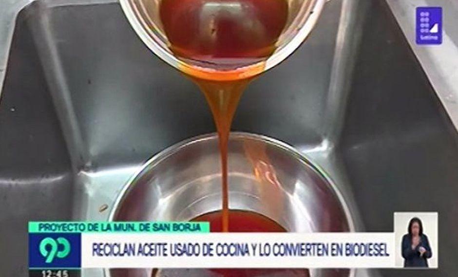 Proyecto municipal de San Borja convierte aceite casero usado en biodiésel [VIDEO]