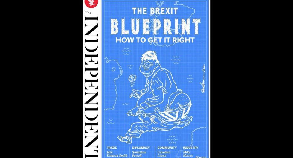 """The Independent brinda algunas ideas en su edición impresa con  """"El plan Brexit: cómo hacerlo bien"""". (The Independent)"""