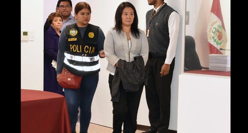 Keiko Fujimori fue detenido el pasado miércoles por una investigación en relación al caso Cocteles. (Foto: USI)