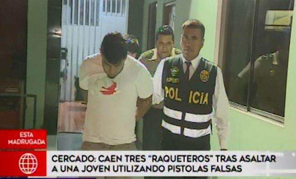 Capturan a presuntos 'raqueteros' que asaltaron a joven utilizando pistolas falsas