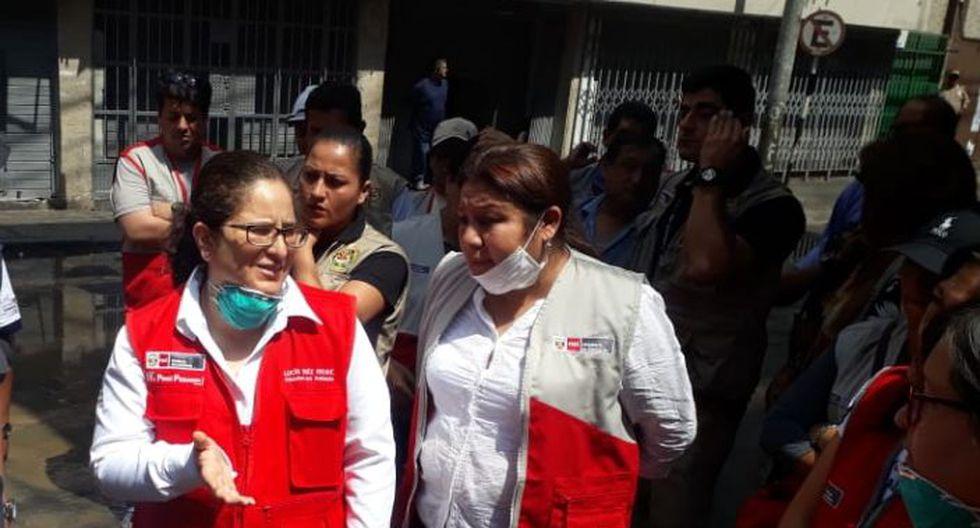Continúan las evaluaciones en los colegios cerca a la zona del incendio. (Foto: Giancarlo Ávila/ GEC)