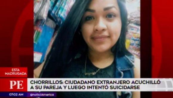 Fallece mujer atacada por su pareja en Chorrillos. (Captura: América Noticias)