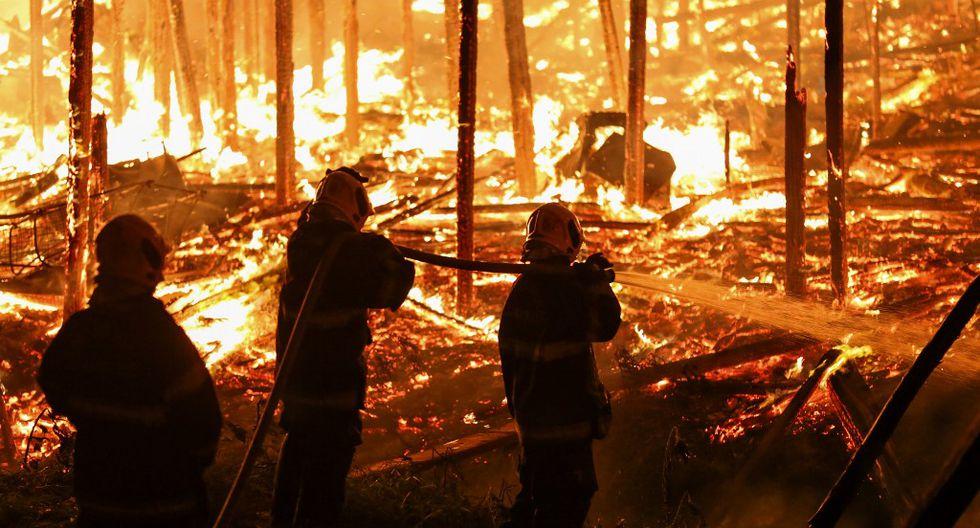 Incendio en Manaus, estado de Amazonas, Brasil, en diciembre del 2018. (Foto referencial: AFP)