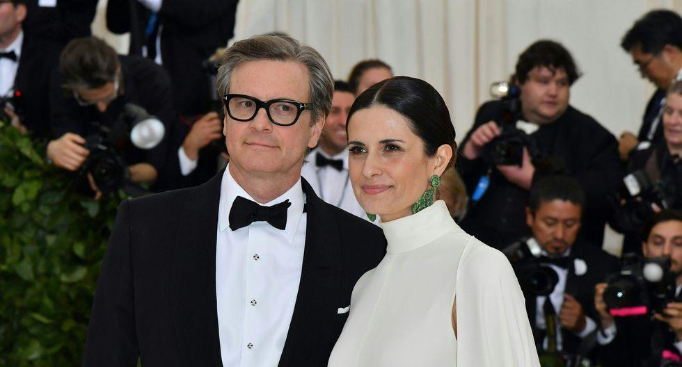 Colin Firth y Livia Giuggioli (Foto: AFP)