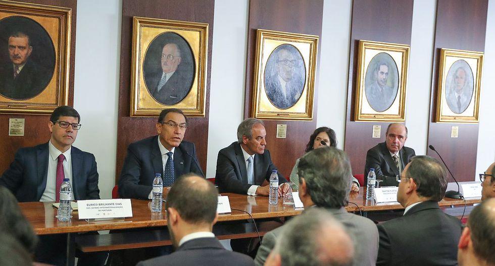 Martín Vizcarra también participó en un foro empresarial en Portugal para promover la inversión en el Perú. (Difusión)