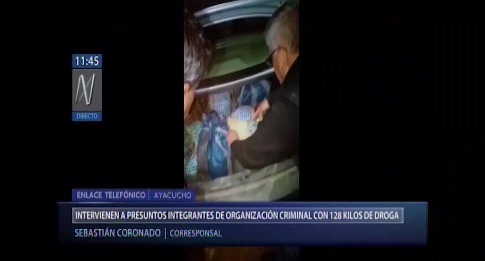 Los intervenidos fueron trasladados a la comisaría de Huanta para las diligencias correspondientes. (Foto captura: Canal N)