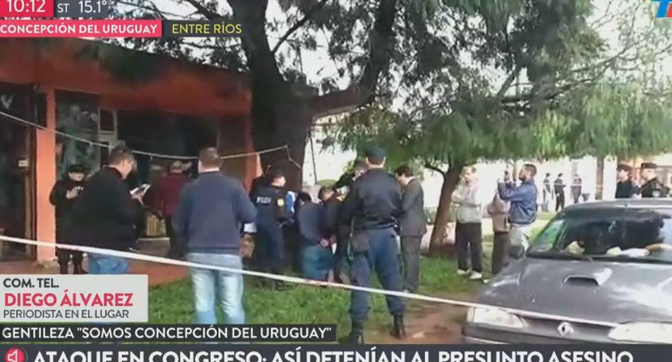 Juan Jesús Fernández fue apresado cuando circulaba por Juan José Bruno al 2600 en Concepción del Uruguay. (Foto: Captura de video)