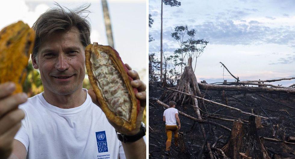 El actor danés quedó impresionado con la belleza de la selva, pero criticó el mal uso de los bosques. (Foto: @nikolajwilliamcw)