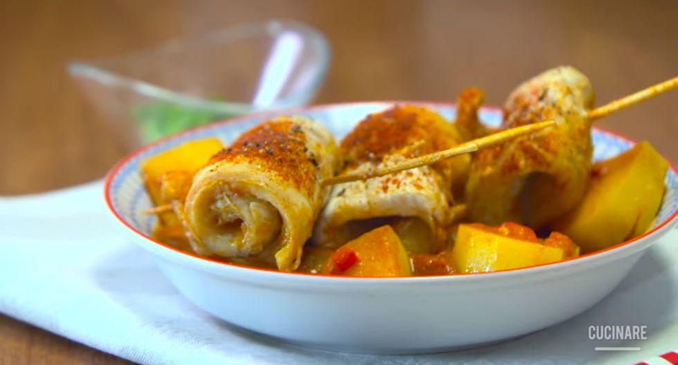 Para formar los rollitos de merluza utiliza palitos de brocheta. (Foto: Cucinare)