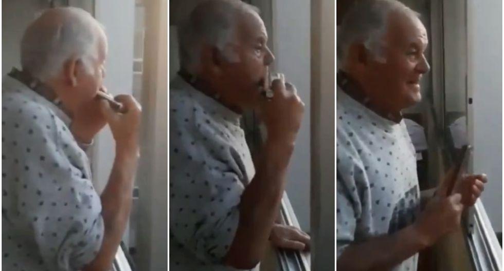 Conoce la historia del hombre con alzheimer que cree que los aplausos, provenientes de los balcones, son para él. (Fotos: Captura)