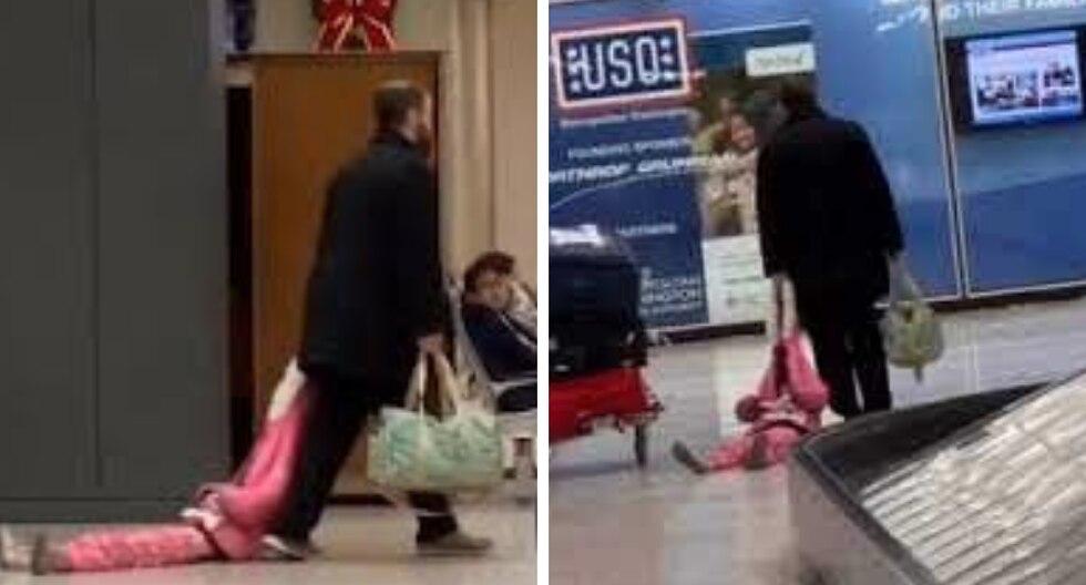 Un padre tuvo una particular reacción ante el berrinche de una de sus hijas. (Foto: ViralHog en YouTube)