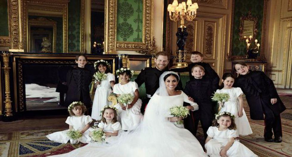 Foto oficial de la boda de Meghan Markle y el príncipe Harry. (Foto: AFP)