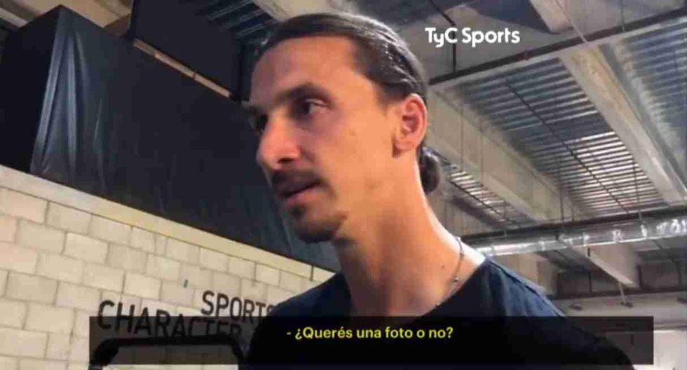 Zlatan Ibrahimovic (Captura y video tomada de TyC Sports)