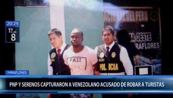 Evens Miguel Wickman no portaba ningún documento de identidad y formaría parte de una banda de 'raqueteros' dedicada al robo de turistas. (Canal N)