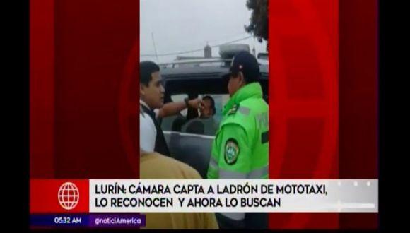 Acusado fue intervenido horas despues manejando el vehículo menor. (Foto: Captura de video / América Noticias)