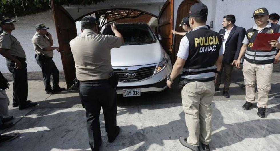 Efectivos de la Diviac participaron de la diligencia. (Foto: Anthony Niño De Guzmán / USI)