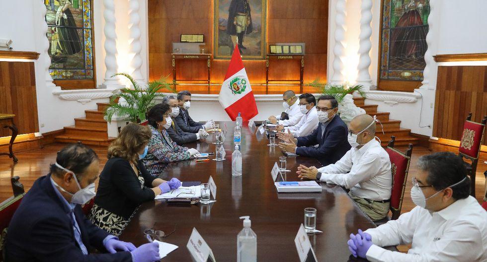 Integrantes del Consejo de Estado se reúnen para evaluar medidas por el coronavirus. (Foto: Presidencia)