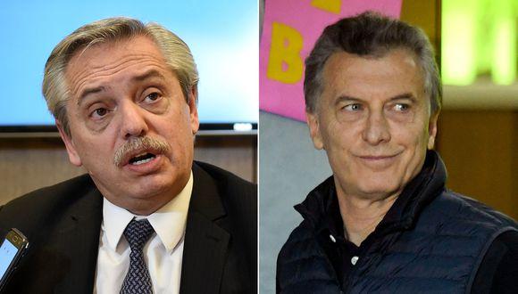 Alberto Fernández sacó un importante ventaja a Mauricio Macri, según sondeos de las elecciones presidenciales en Argentina. (Foto: AFP)