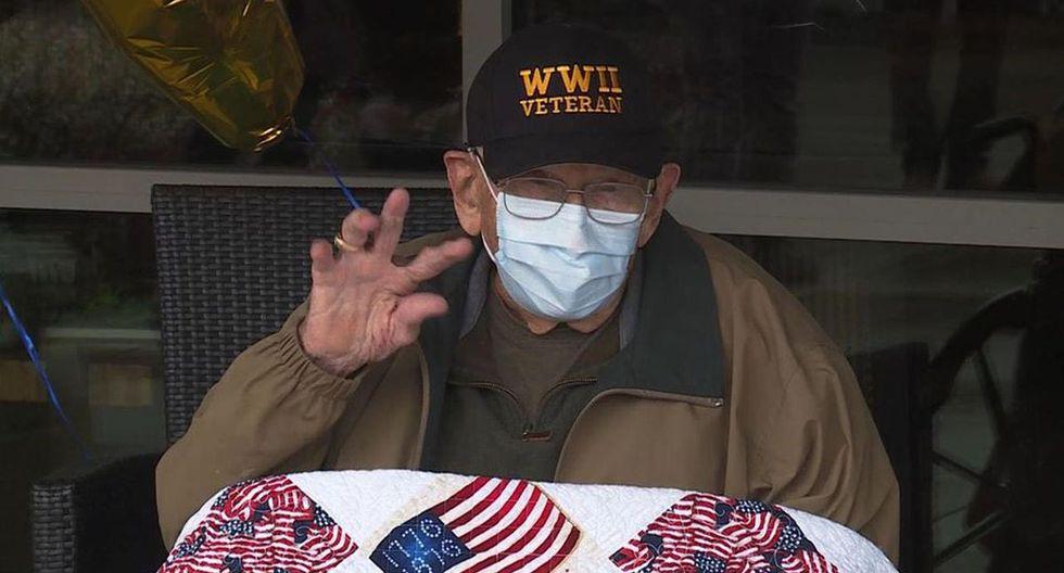 """William """"Bill"""" Lapschies de 104 años logró superar al Covid-19. El anciano es sobreviviente de la Segunda Guerra Mundial y la gripe española"""