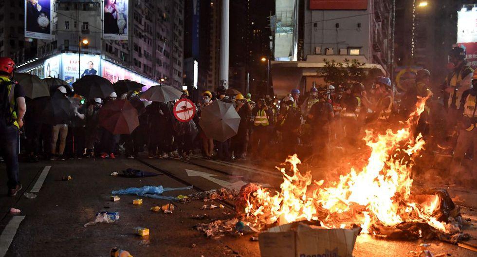 Las manifestaciones comenzaron el pasado mes de marzo como oposición a una polémica propuesta de ley de extradición. (Foto referencial: AFP)