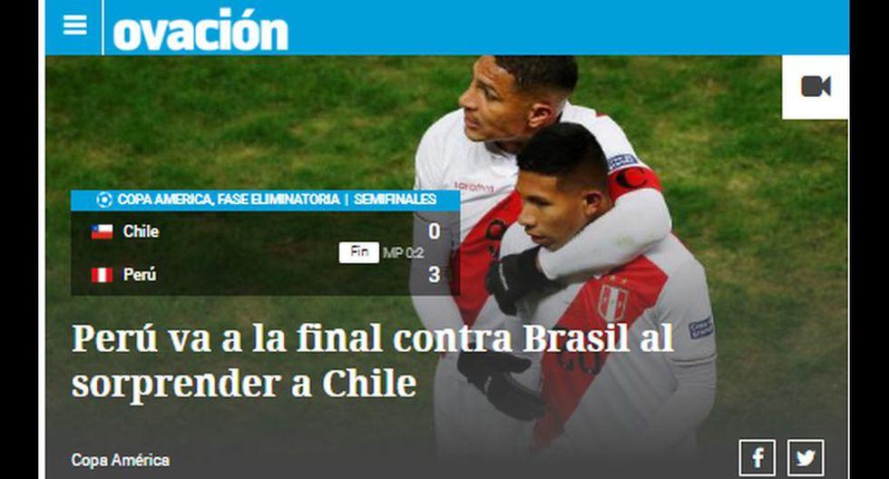 Así informó la prensa mundial tras la victoria de Perú sobre Chile y clasificación a la final de la Copa América 2019.
